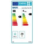 Baxi Luna Duo-Tec 33+ ERP fali kondenzációs kombi gázkazán
