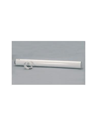 Saunier Duval vízszintes egyenes hosszabbítócső L-500mm, 60/100 mm