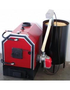 Calor V50 vegyestüzelésű kazán pelletégetővel