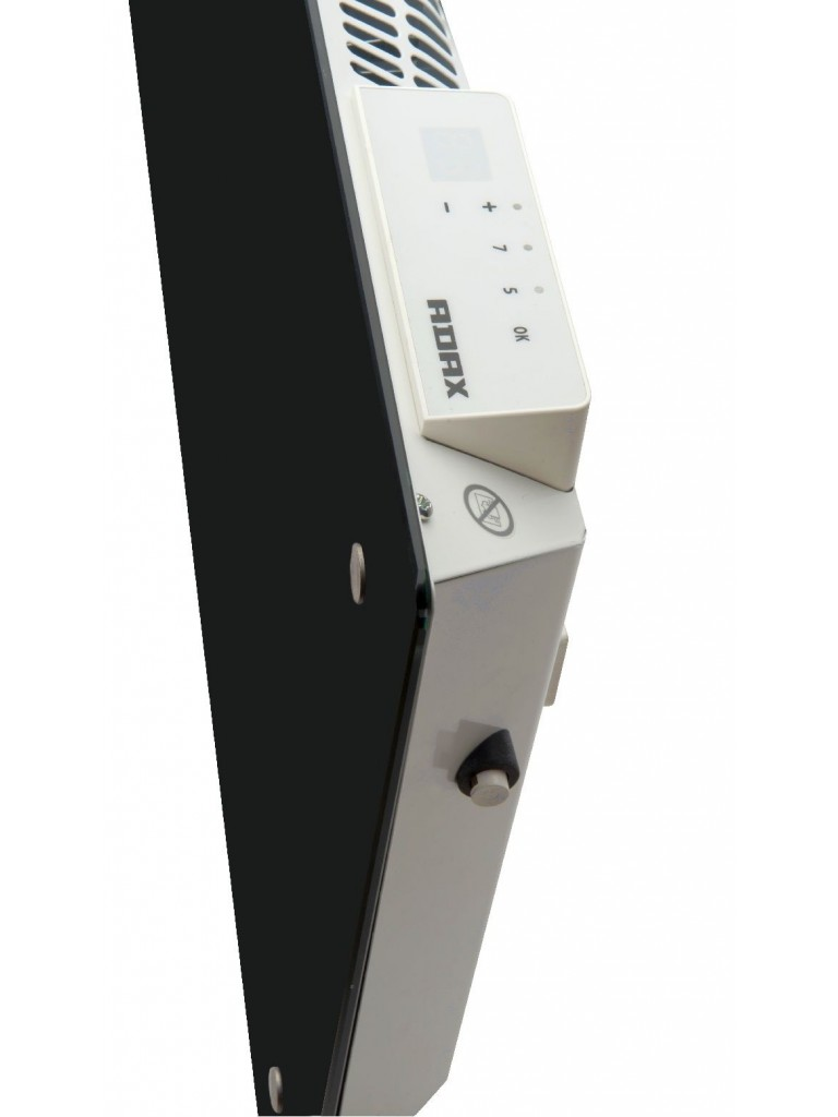 Adax Clea WiFi L elektromos konvektor 600W, fekete, alacsony kivitel