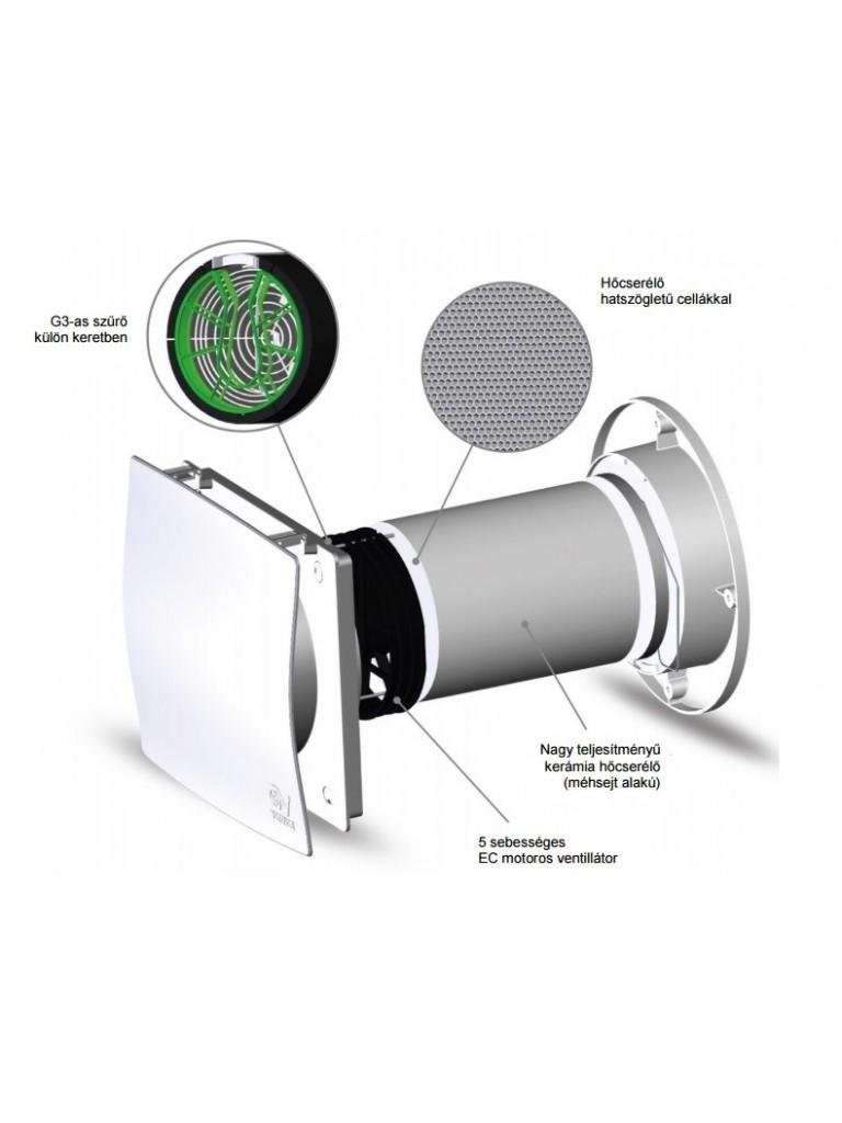 Vortice VORT HRW 20 MONO HCS egyhelységes hővisszanyerős szellőztető + páraérz.