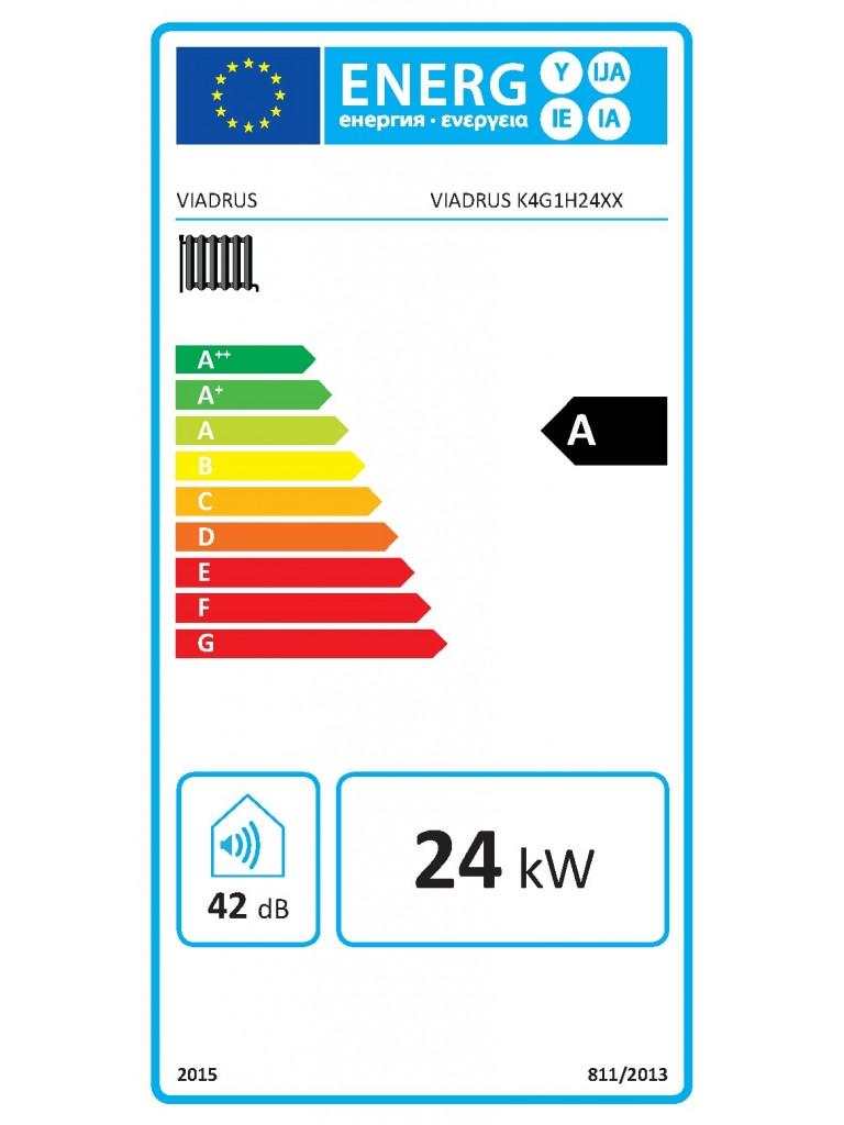 VIADRUS K4 fali fütő kondenzációs gázkazán 24 KW(K4G1S24ZX)