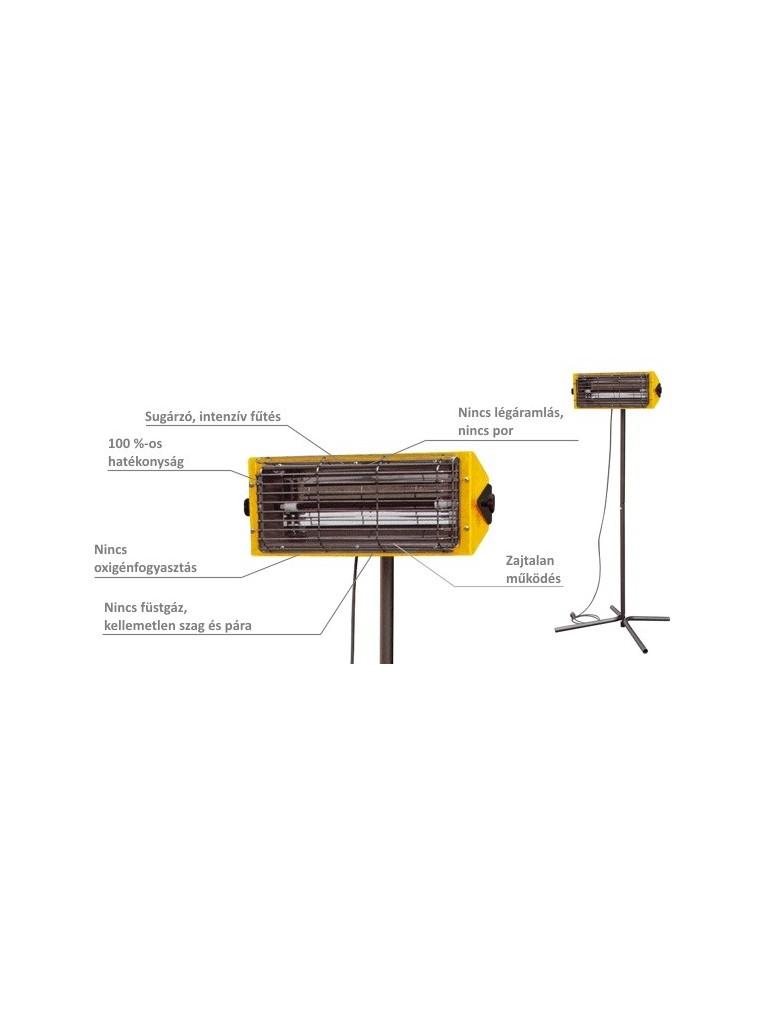 Master HALL1500 infra hősugárzó 1,5kW-os