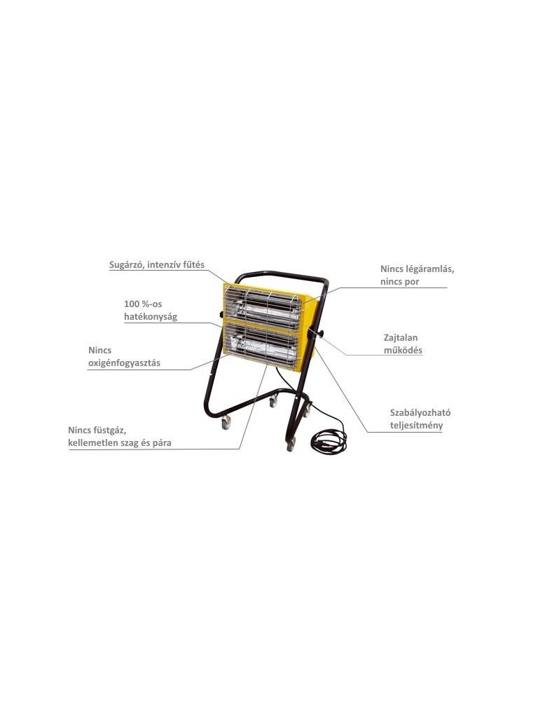 Master HALL3000 infra hősugárzó 3kW-os