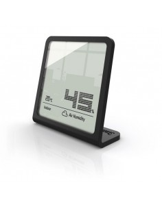 Stadler Form Selina páratartalom és hőmérő, órával, fekete