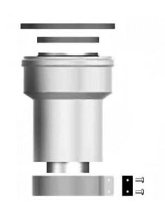 Radiant bővítő idom O60/100-80/125 PPS/ALU